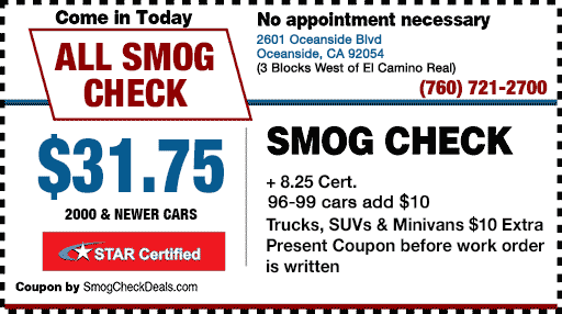 smog check coupon california
