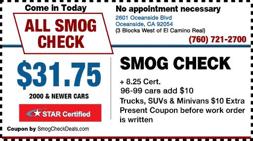STAR Station Oceanside - $31.75 Smog Check